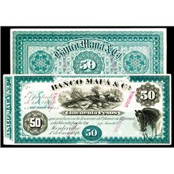 Banco Mauá & Ca., 1876 Issue Proof.