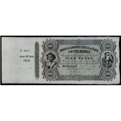 Banco De Londres Y Rio De La Plata, 1862 Issue Unlisted Specimen Variety.