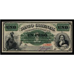 Banco Oriental, Montevideo, 1867-69 Issue.