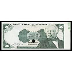Banco Central De Venezuela - Caracas, Specimen Banknote.