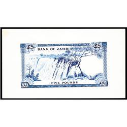 Bank of Zambia, 1964 ND Issue Progress Proof.