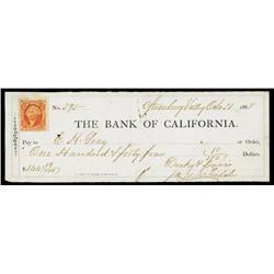 Bank of California at Strawberry Valley, CA.