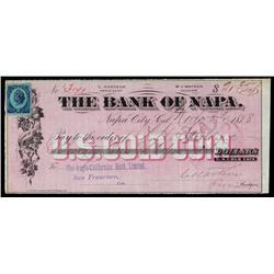 Bank of Napa, Draft Payable in U.S. Gold Coin.