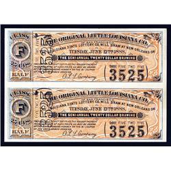 Original Little Louisiana Co. of San Francisico Uncut Lottery Ticket Pair.