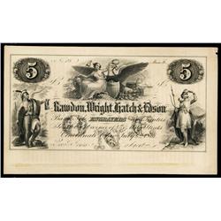 U.S. Rawdon, Wright, Hatch & Edson - Engravers Advertising Banknote.