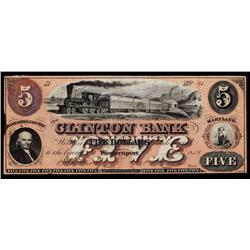 Clinton Bank, Issued Obsolete Banknote Color Variety.