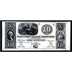 Fells Point Savings Institution of Baltimore Obsolete Banknote.