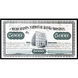 The Merchants National Bank of Boston, Clearing House Association Proof.