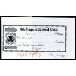 American National Bank, Detroit, MI Proof Approval Check.