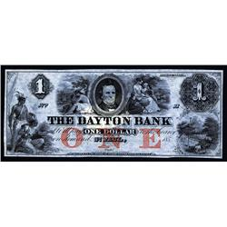 Dayton Bank Obsolete Banknote.