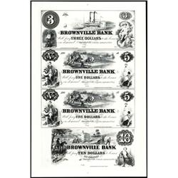 Brownville Bank Uncut Sheet of 4 Proofs.