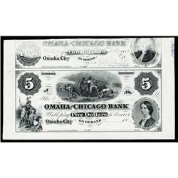 Omaha and Chicago Bank Obsolete Proprietary Proof.