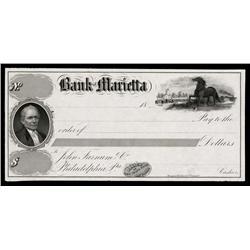 Bank of Marietta, Proof Check.
