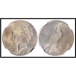 1928 P $1, NGC Graded AU 58.