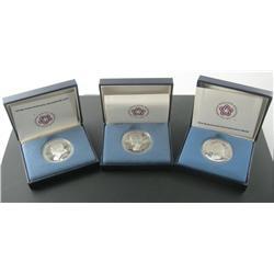 1975 Bicentennial Commemorative Silver Medal Trio.