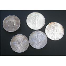 Silver Eagles and Silver Rounds Quintet.