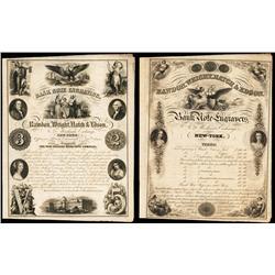 Rawdon, Wright, Hatch & Edson 1853 Dated Advertising Sheet.