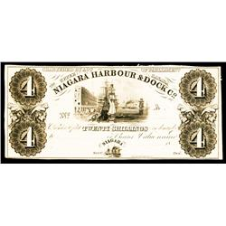 Niagara Harbour & Dock Co. Proof Obsolete.
