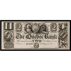 Quebec Bank, ca.1830's Obsolete Proof.