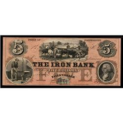 The Iron Bank Obsolete Banknote.