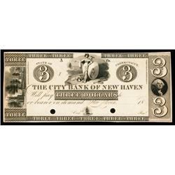City Bank of New Haven ca.1830's Proof Obsolete.