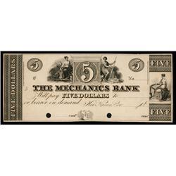 Mechanics Bank ca.1830's Obsolete Proof.