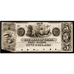 The Bank of Cairo, Proof Obsolete Banknote.