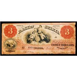 Bank of Sparta Obsolete Banknote.