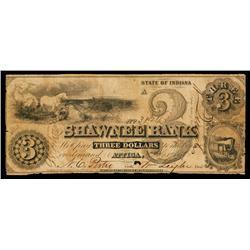 Shawnee Bank, Obsolete Banknote.