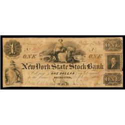 New York State Stock Bank, Obsolete Banknote.