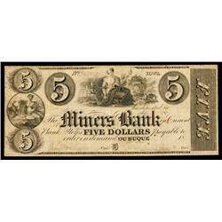 Miner's Bank Obsolete Banknote.