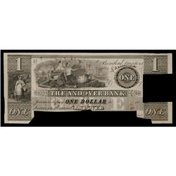 Andover Bank With Banknote Pricing on Back, ca.1830's Obsolete Proof.