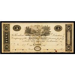 Massachusetts/Maine, Castine Bank Obsolete Banknote.