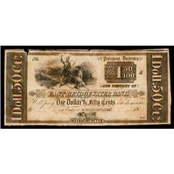 East Bridgewater Bank Obsolete Banknote.