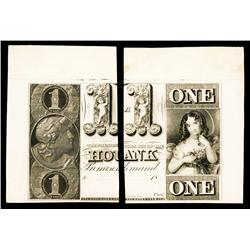 Housatonic Bank, ca.1830's Obsolete Proof.