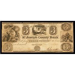 St.Joseph County Bank Obsolete Banknote.