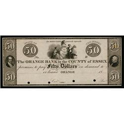 Orange Bank in the County of Essex ca.1830's Obsolete Proof.
