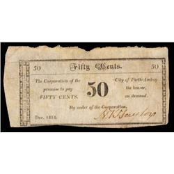 Corporation of the City of Perth Amboy Obsolete Scrip Note.