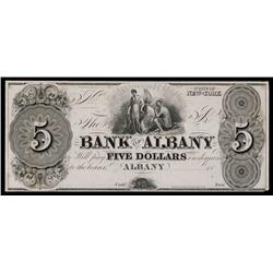Bank of Albany, ca.1830's Obsolete Proof.