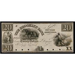 Brooklyn Bank ca.1830's Obsolete Proof.