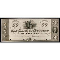 Bank of Buffalo ca.1830's Obsolete Proof.
