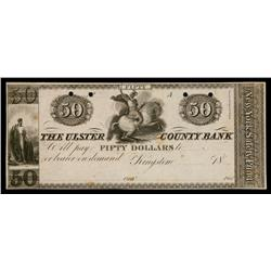 Ulster County Bank ca.1830's Obsolete Proof.