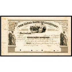 The Canal Bank of Lockport Proof Stock Certificate.