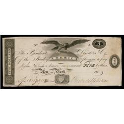 Bank of America 181x (ca.1810-19) Obsolete Proof.
