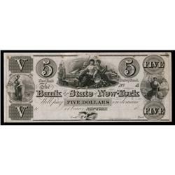 Bank of the State of New-York,ca.1830's Obsolete Proof.