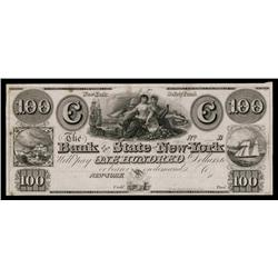 Bank of the State of New-York, ca.1830's Obsolete Proof.