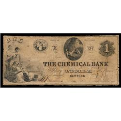 The Chemical Bank Obsolete Banknote.