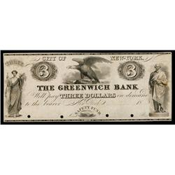 Greenwich Bank ca.1830's Obsolete Proof.