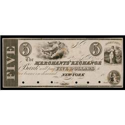 Merchants' Exchange Bank, ca.1830's Obsolete Proof.