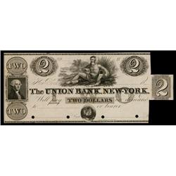 Union Bank, New York ca.1830's Obsolete Proof.